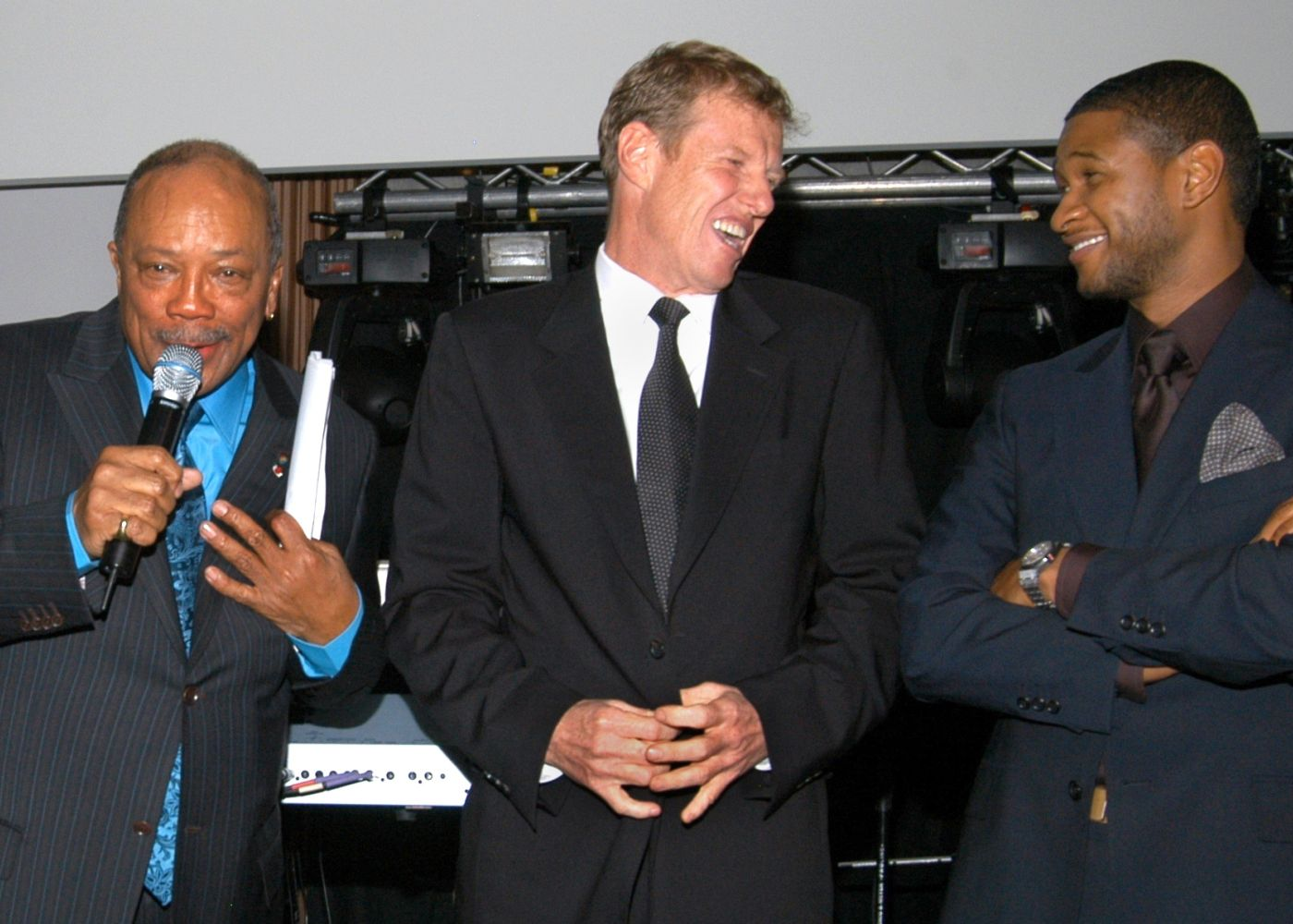 Neeson with Quincy and Usher copy